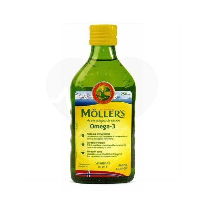 mollers aceite higado bacalao omega3 250ml