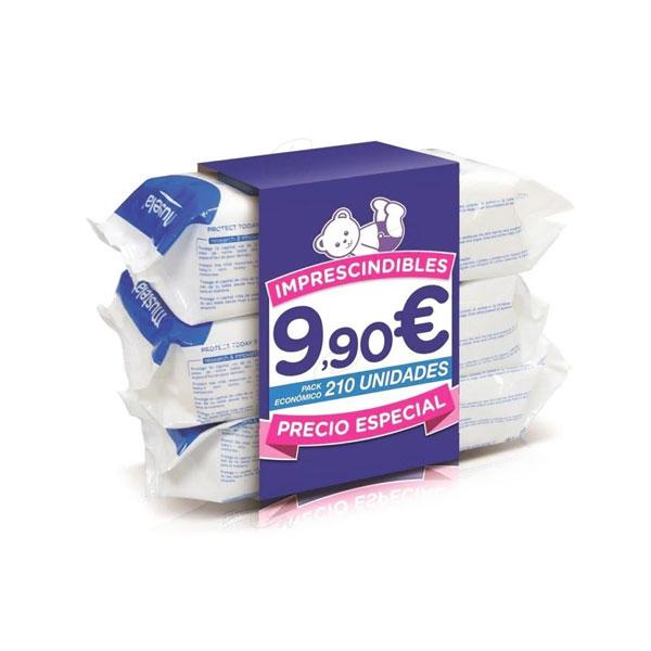 Toallitas Mustela Pack 210 unidades (3x70)
