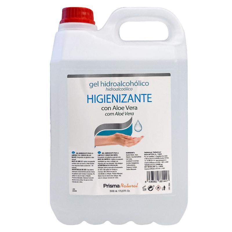 Gel Hidroalcohólico Higienizante con Aloe Vera Garrafa 5 litros