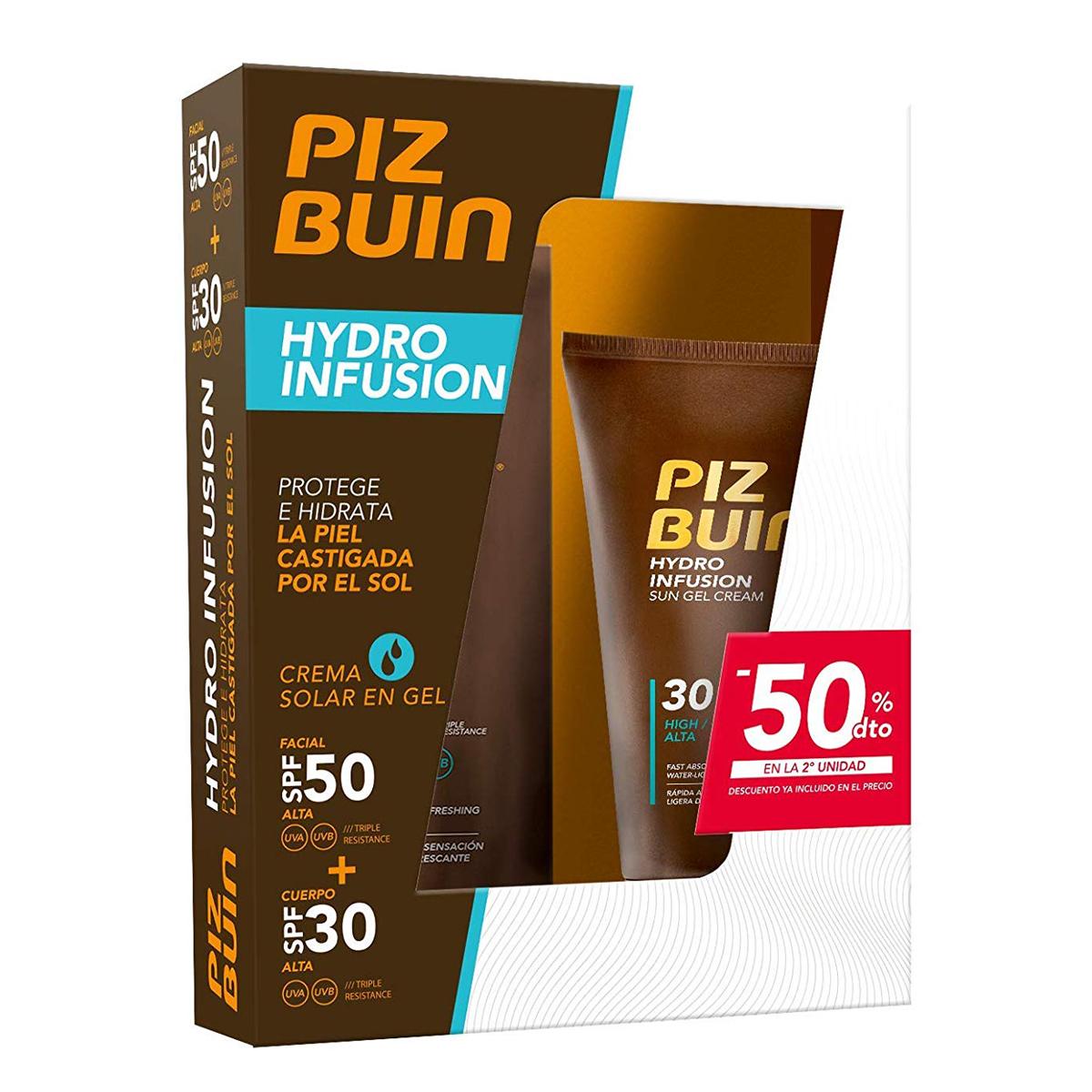 Piz Buin - Protector Solar Hydro Infusion Crema Solar en Gel SPF 50 Protección Alta
