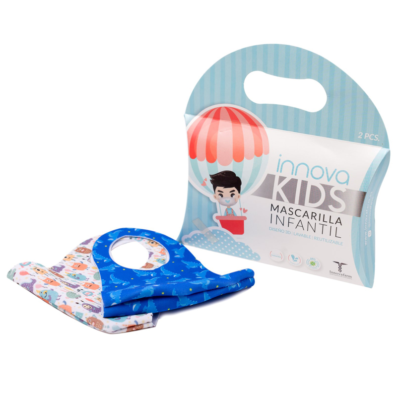 Mascarilla nin@ Azul Pack de 2 Innova Kids