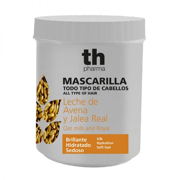 Mascarilla Leche de Avena y Jalea Real. 700 ml. Todo tipo de cabello