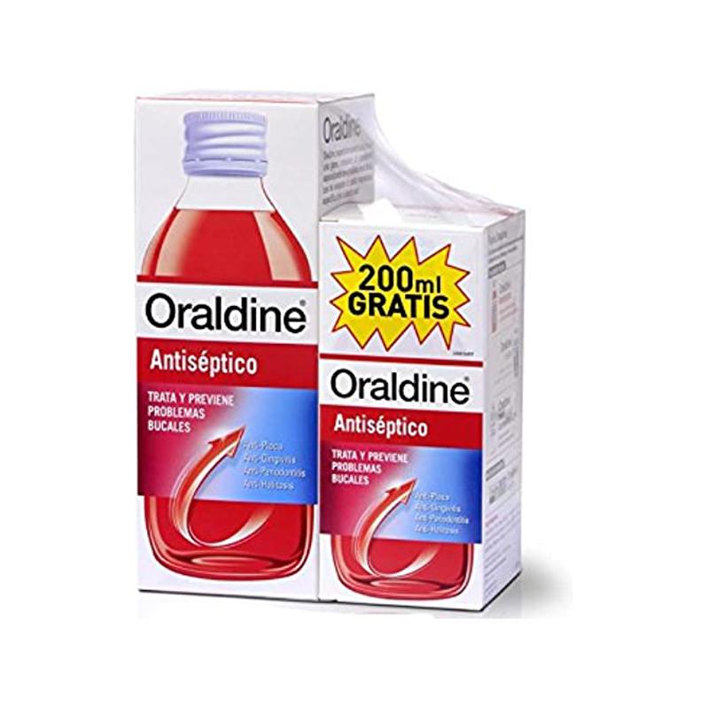 Colutorio Antiséptico Oraldine  , 400 Mililitros + 200 MIlilitros