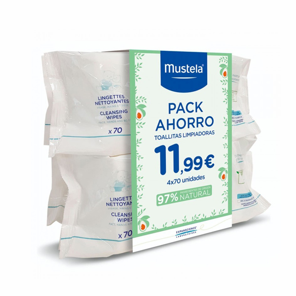 Toallitas Mustela Pack 280 unidades (4x70)